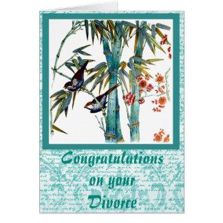 Birds and Bamboo Divorce Card