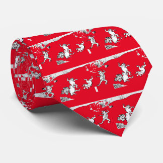 Birds and beasts person caricature, tie