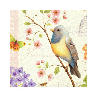 Birds and Bees Canvas Print