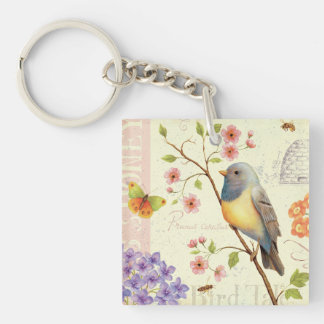 Birds and Bees Keychain