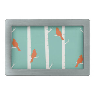 Birds and Birch Trees Rectangular Belt Buckle