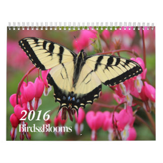 Birds and Blooms 2016 Calendar