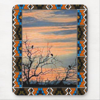 Birds and branches mouse pad