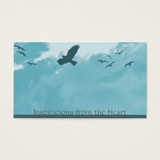 birds and clouds business card