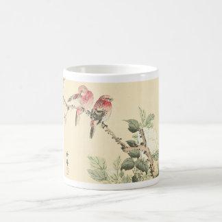 Birds and Cotton Rose Imao Keinen Coffee Mugs