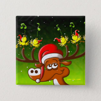 Birds' and Deer's Christmas Celebration Concert Button