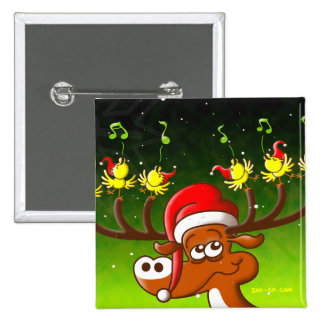 Birds' and Deer's Christmas Celebration Concert Pins