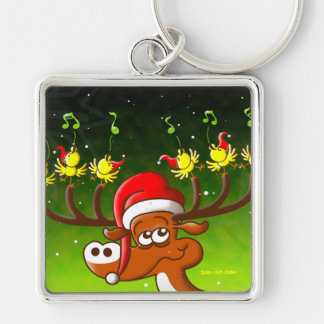 Birds' and Deer's Christmas Celebration Concert Keychain