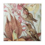 Birds and Flowers Ceramic Tile