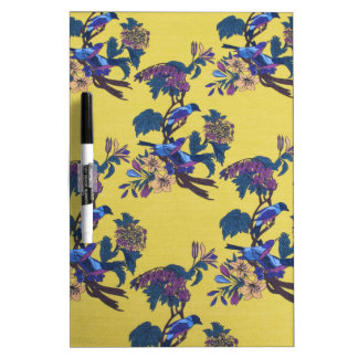 Birds And Flowers Dry-Erase Whiteboards