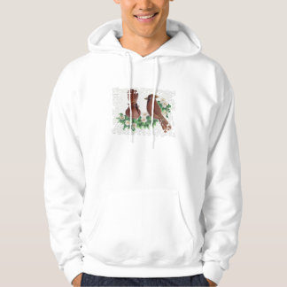 Birds and Flowers in Puzzle Frame Hoodies