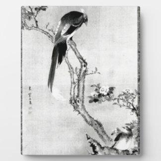 Birds and Flowers - Japanese Edo Period Plaque