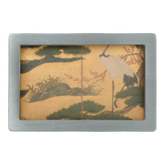 Birds and Flowers of the Four Seasons Belt Buckle