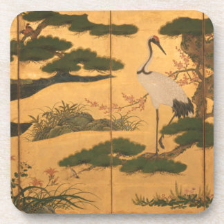 Birds and Flowers of the Four Seasons Beverage Coaster
