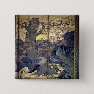 Birds and Flowers of the Four Seasons Button