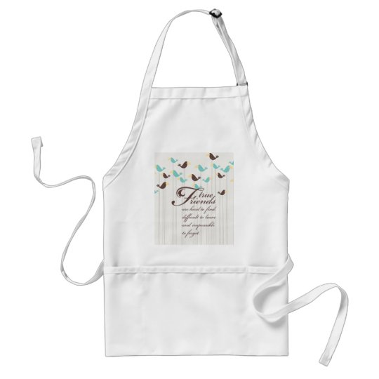 Birds and Friends Adult Apron