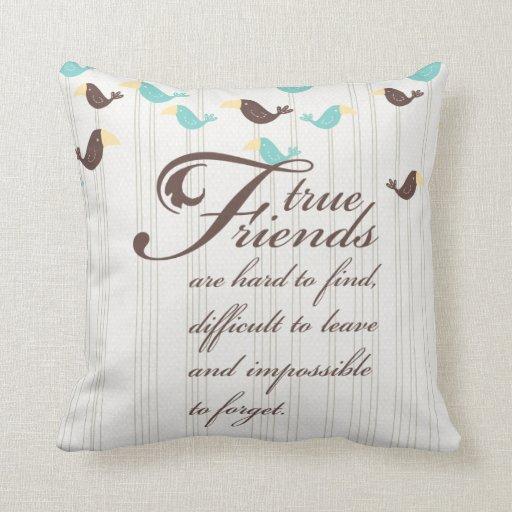 Birds and Friends Throw Pillow