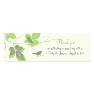 Birds and Leaves Special Occasion Favor Tags Double-Sided Mini Business Cards (Pack Of 20)