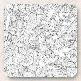 Birds and Maple Tree U-Color Coaster