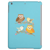 Birds and owls case for iPad air