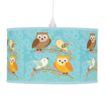 Birds and owls ceiling lamp