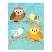 Birds and owls flyer