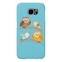 Birds and owls samsung galaxy s6 case