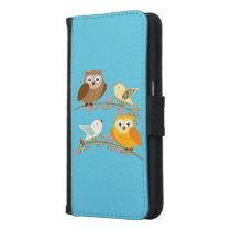 Birds and owls samsung galaxy s6 wallet case