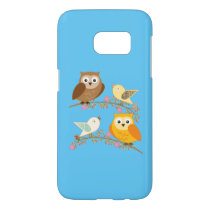 Birds and owls samsung galaxy s7 case