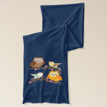 Birds and owls scarf