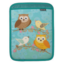 Birds and owls sleeve for iPads