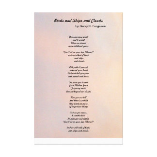 """""""BIRDS AND SHIPS AND CLOUDS FAMILY POEM POSTER"""" CANVAS PRINT"""