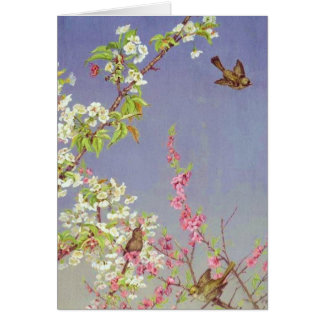 Birds and Spring Blossoms Card