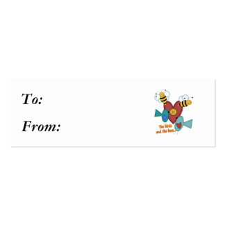 birds and the bees mini business card