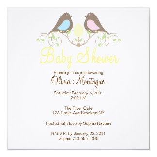 Birds and their lil Egg Baby Shower Invitation
