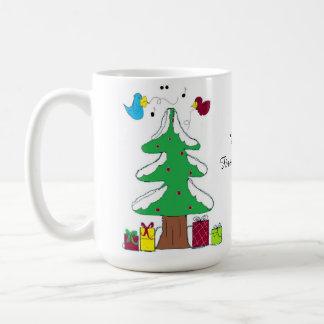 Birds and Tree Baby's First Christmas Classic White Coffee Mug