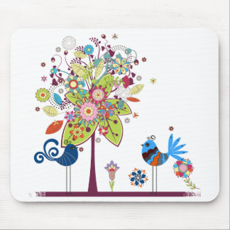 Birds and Tree Mouse Pad