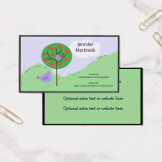Birds and Tree Social Media Networking Card