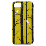 Birds and Trees in Yellow and Black iPhone 5 Covers