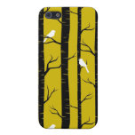 Birds and Trees in Yellow and Black Case For iPhone 5
