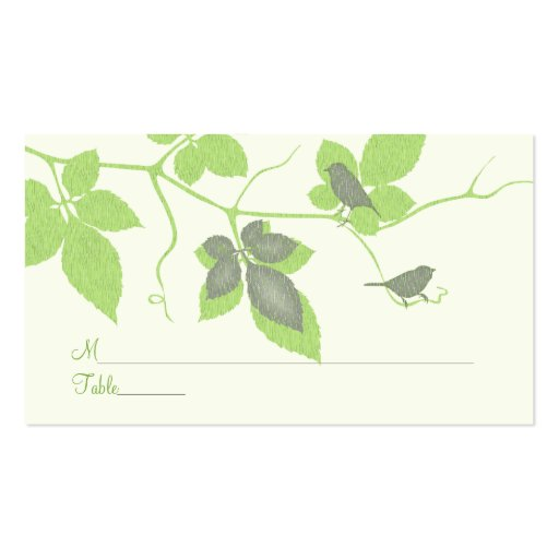 Birds and Vines Special Occasion Place Card Business Card Template