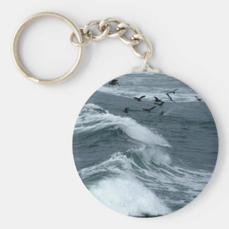 Birds And Waves Keychain