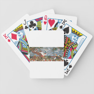 Birds, Animals, and Flowering Plants in Imaginary Bicycle Playing Cards