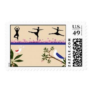 Birds & Ballet Postage Stamp