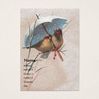 Birds Beneath Blue Umbrella Business Card