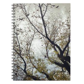 Birds between the trees notebook