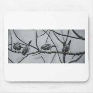 birds, bird , branch , nature , friendship , frien mouse pad