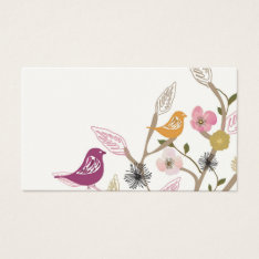 Birds Business Card at Zazzle