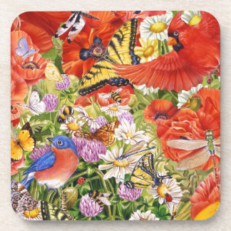 Birds, Butterflies and Bees Coaster