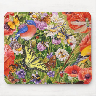 Birds, Butterflies and Bees Mouse Pad